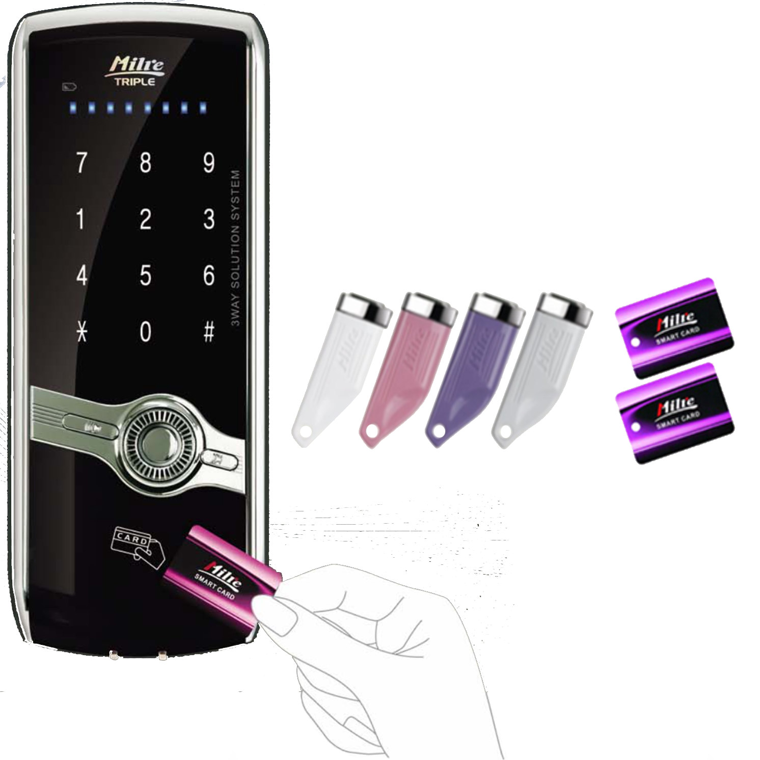Milre MI-430SD Digital Rim Lock